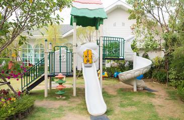 Playground in the garden for kid