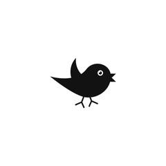 bird icon on white background,vector symbol