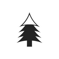 Christmas tree icon on white background,vector symbol