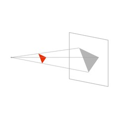 Geometric shadow effect