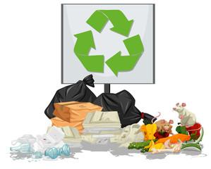 Pile of rubbish scene