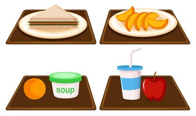 Set of breakfast meal