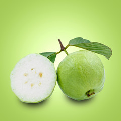 guava isolated green background