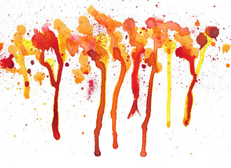 Splash watercolor background. Hand painted illustration.