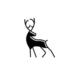 Deer logo vector monoline abstract
