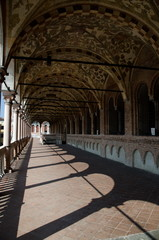 Summer Shades in upper gallery of Ragione Palace, Padua