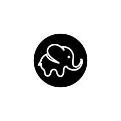 elephant logo vector abstract modern