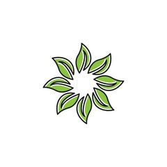 flower abstract logo template download modern style