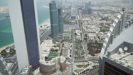 Beautiful top view of Abu Dhabi