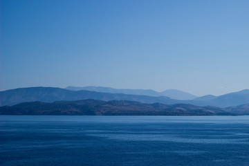 landscape corfu greece