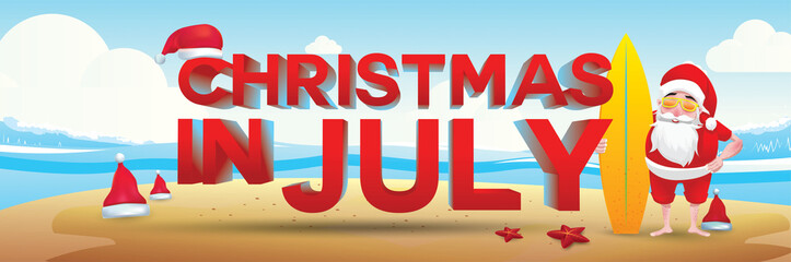 christmas in july design with 3d concept
