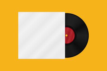 Gramophone vinyl LP record template. Vector illustration