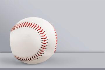 Sport baseball on grey desk