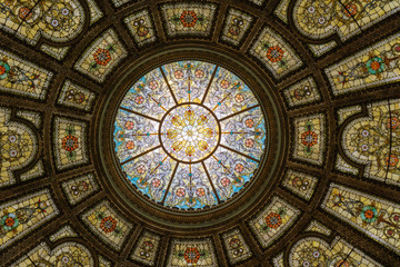 Dome of Chicago Cultural Center Wall mural