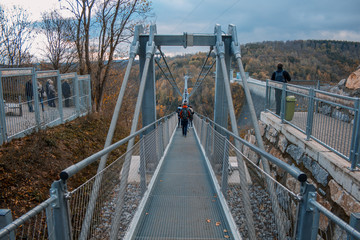 Titan RT suspension bridge in Harz Mountains National Park, Germany