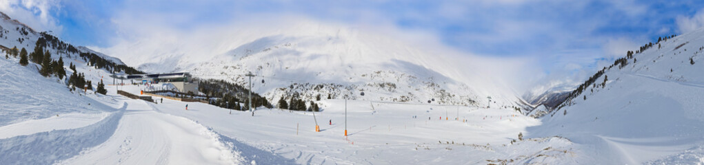 Wall Mural - Mountain ski resort Obergurgl Austria