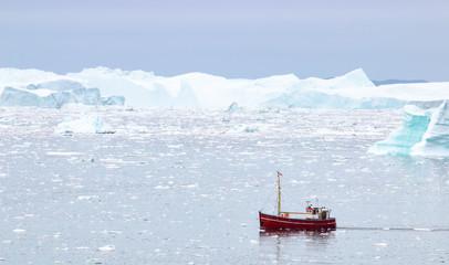 Fotobehang Poolcirkel Diskobucht Grönland
