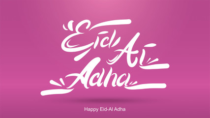 Eid al-Adha handwritten design with fun concept and pastel color