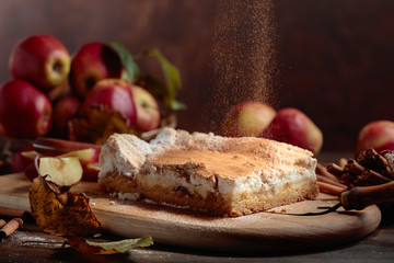 Fresh baked delicious classic  apple pie.