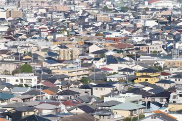 一般的な住宅地の街並み(静岡市)