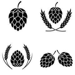 Hop icon isolated , logo on white background