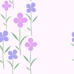 Vector floral seamless pattern. Can be used for wrapping paper, wallpaper for flower shop or store, atelier, spa, boutique, beauty salon, print on tile. EPS10. Spring Background.