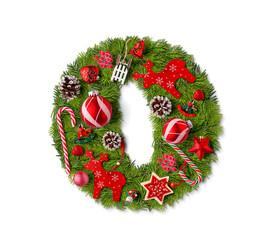 Number 0. Christmas tree decoration