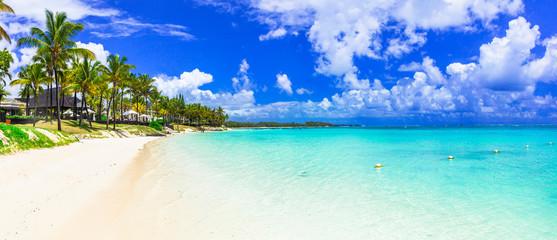 Wall Mural - amazing tropical scenery - white beaches of Mauritius island