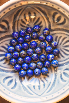 Lapis lazuli stone beads