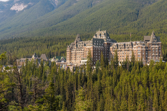 Fairmont Banff Springs hotel in the Canadian Rocky Mountains