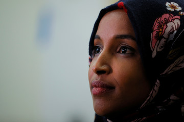 U.S. Democratic congressional candidate Ilhan Omar is interviewed by Reuters in Minneapolis
