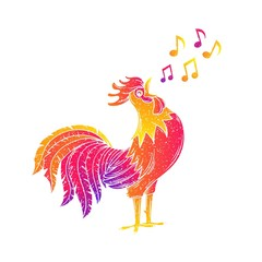 Singing rooster, cock