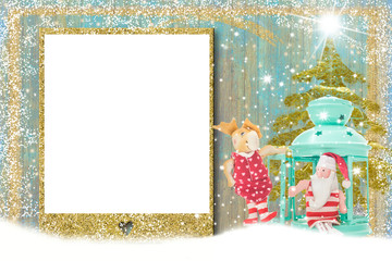 Merry Christmas photo frame card