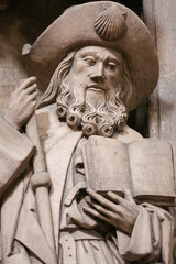 Oviedo Cathedral - Statue of Saint James the Greater