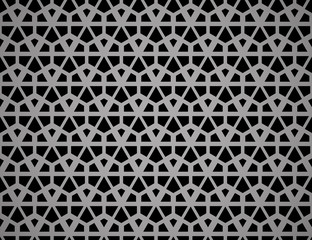 Abstract geometric pattern. A seamless vector background. Grey and black ornament. Graphic modern pattern. Simple lattice graphic design