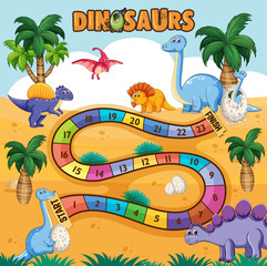Dino path board game