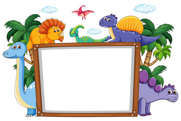 A dinosaur whiteboard template