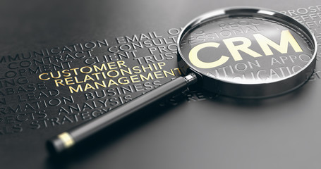 Wall Mural - CRM, Customer Relationship Management Concept
