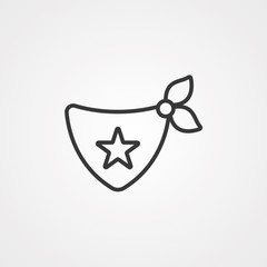 Bandana vector icon sign symbol