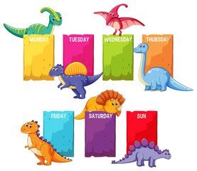 Dino on schedule template
