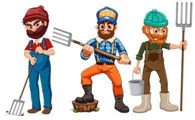 Set of farmer character