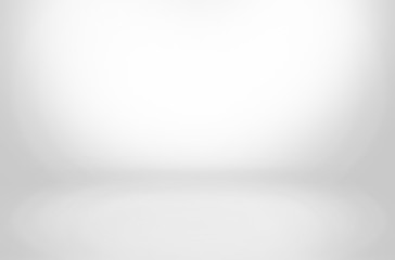 Fototapete - gray and black cement wall studio background, blank room and empty banner