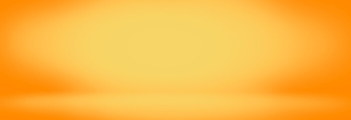 yellow and orange studio room background, bland banner and empty wall