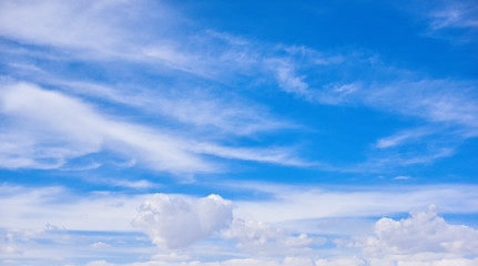 Blue sky with clouds - natural beauty background