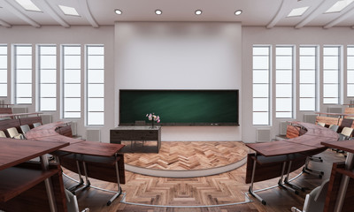 Inside an Auditorium 3d rendering