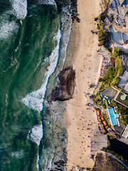 Indonesia, Bali, Aerial view of Dreamland beach