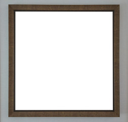 Blank photo wood frame