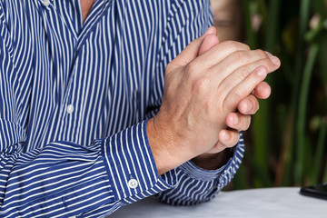 close-up hands man adult