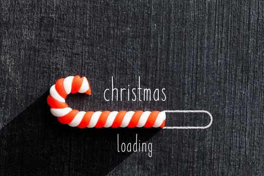 Christmas loading on blackboard