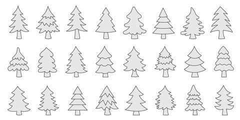 various christmas tree